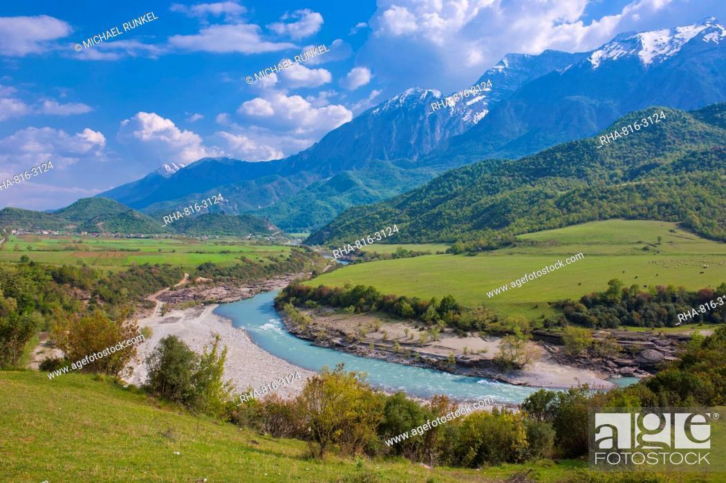 Stock Photo: Landscape in the Southeast area, Albania, Europe.
