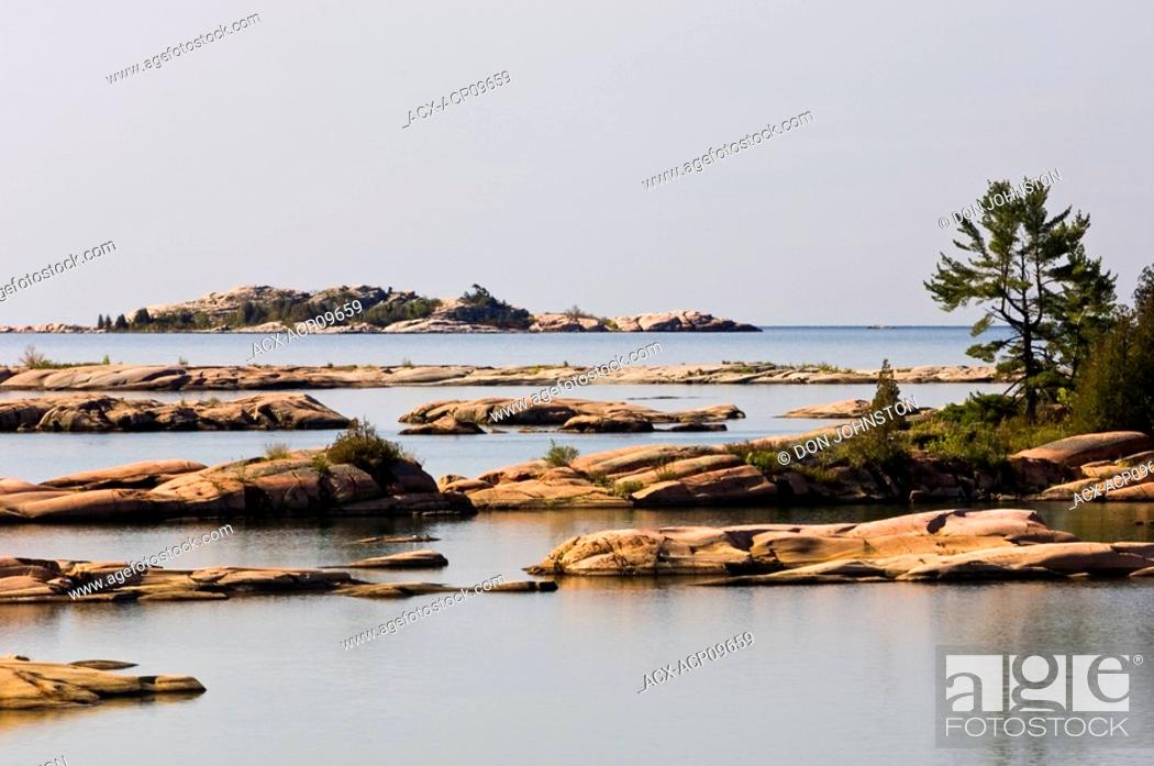Stock Photo: Fox Islands in Desjardins Bay, Ontario, Canada.