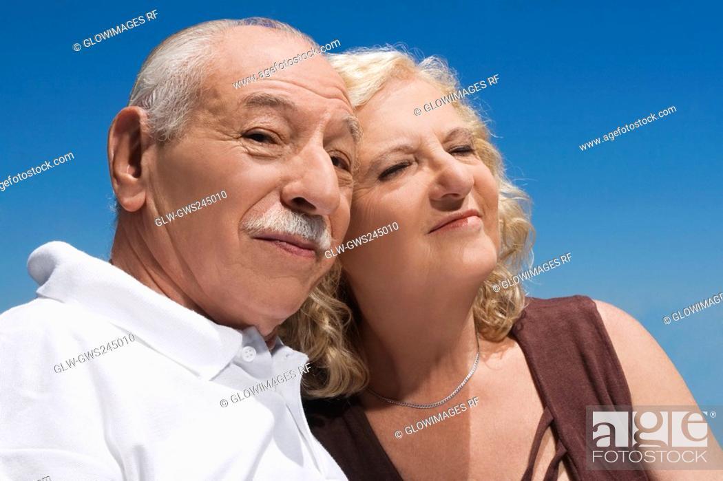 Stock Photo: Close-up of a senior couple.