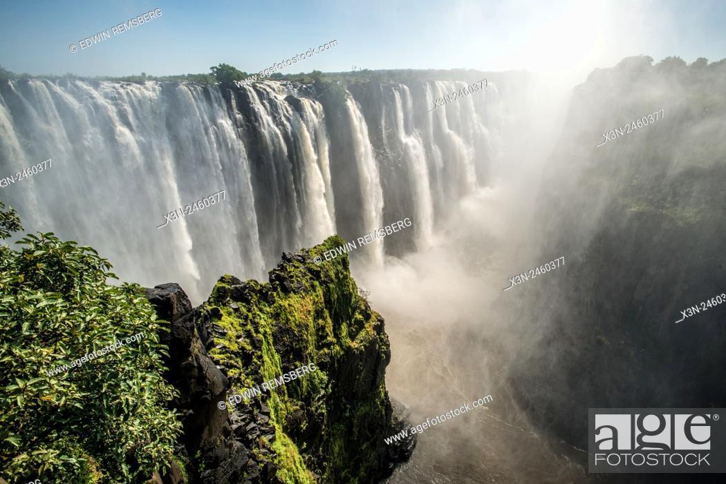 Stock Photo: Victoria Falls, Zimbabwe - Victoria Falls Waterfall.