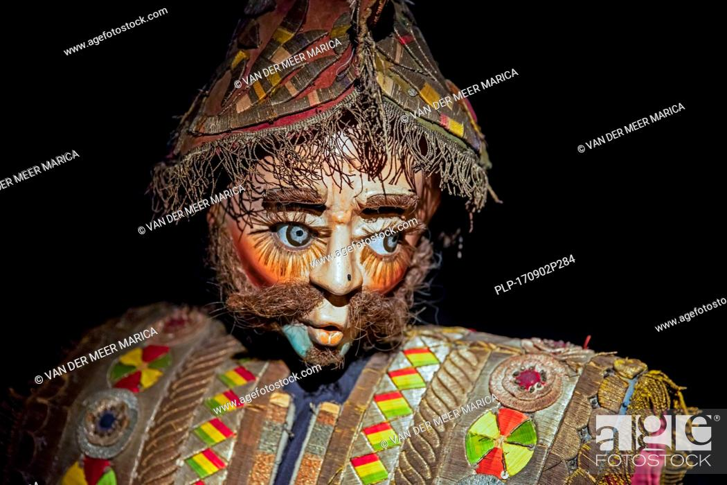 Stock Photo: Traditional ornate mask in the Museo Nacional de Etnografía y Folklore / MUSEF, ethnographic museum in Sucre, Bolivia.