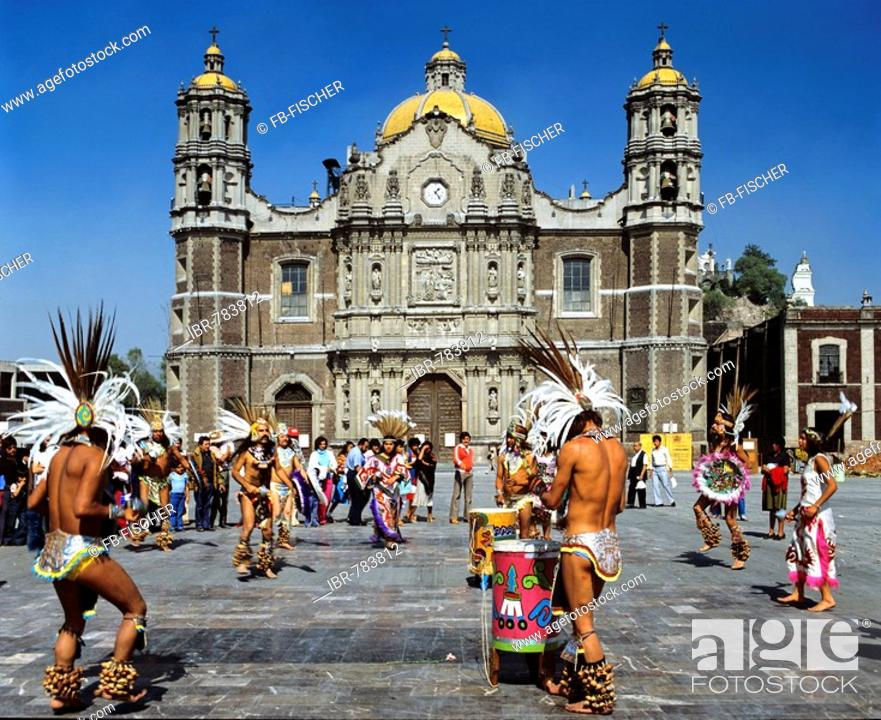 Stock Photo: Our Lady of Guadalupe Basilica, cathedral, Indios, Mexico City, Mexico, Central America.