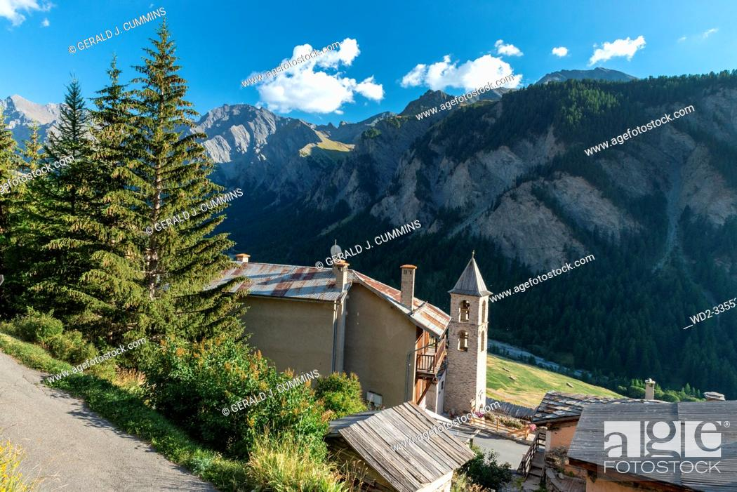 Stock Photo: France, Saint-Véran, High Alps, 09/2016 The village of Saint Veran, the highest in France, On the list on the most beautiful villages of France.