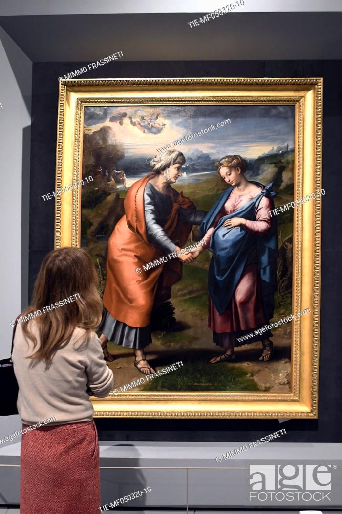 Stock Photo: 'The visitation' by Raphael in Rome, ITALY-04-03-2020.