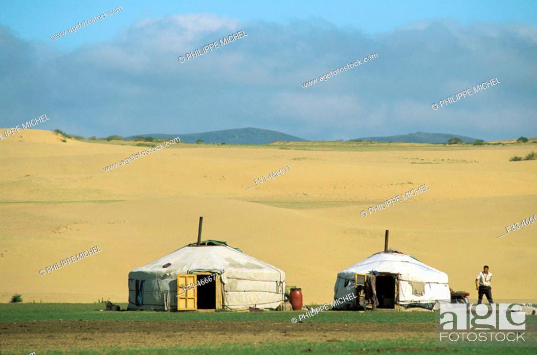 Stock Photo: Bakhan Uul. Töv province. Mongolia.