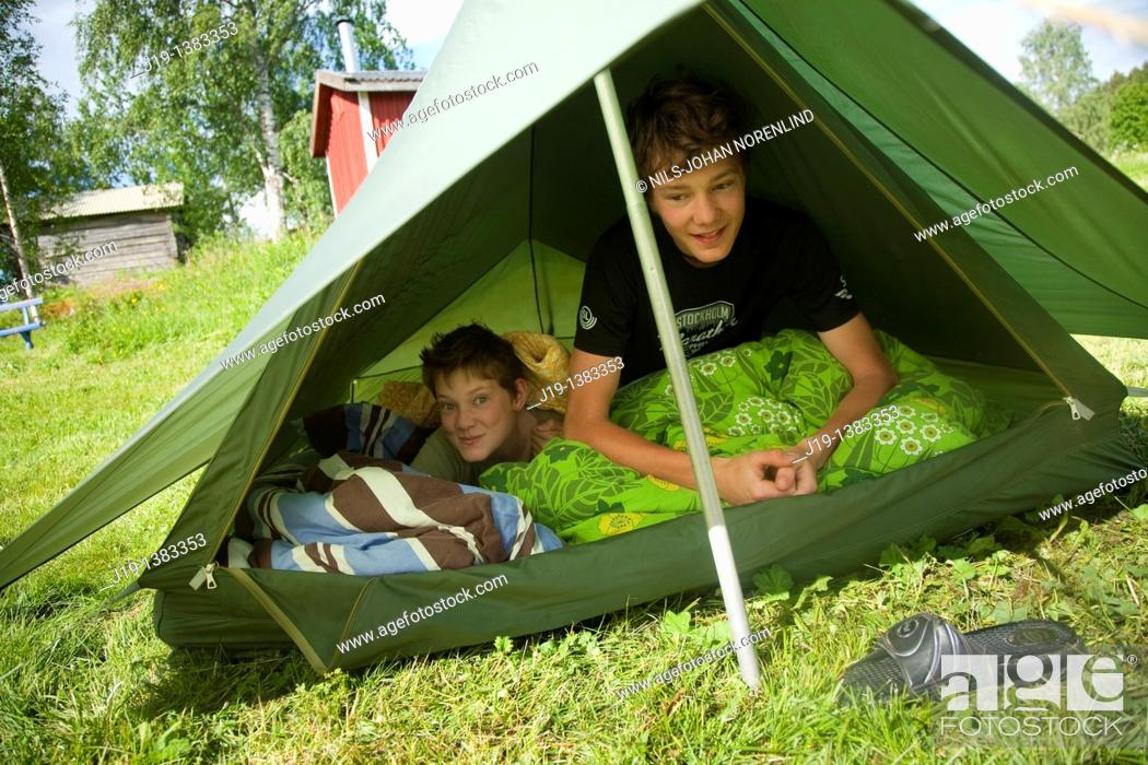 Stock Photo: Holiday at summer cottage, North of Sweden.