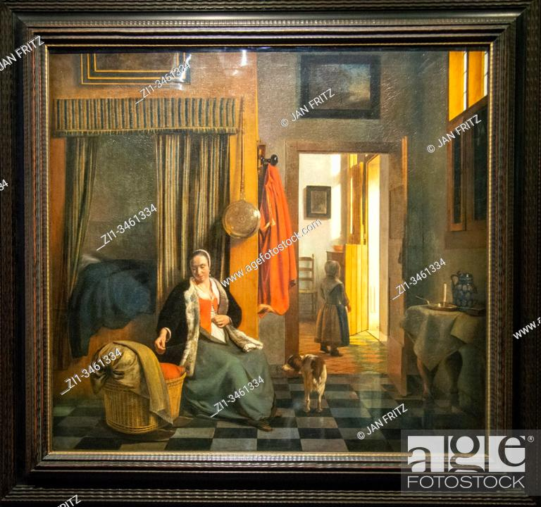 Imagen: 'the mother', 1661-1663, pieter de hooch.