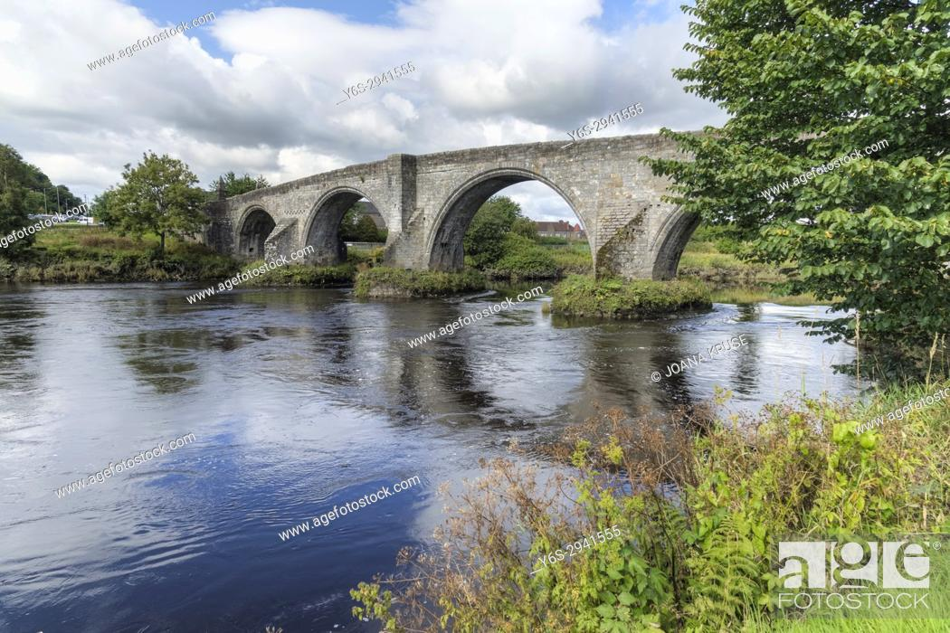 Stock Photo: The Auld Brig, Stirling, Falkirk, Scotland, United Kingdom.