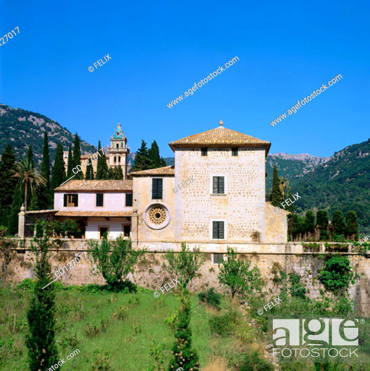 Stock Photo: Charterhouse. Valldemosa. Majorca. Balearic Islands. Spain.