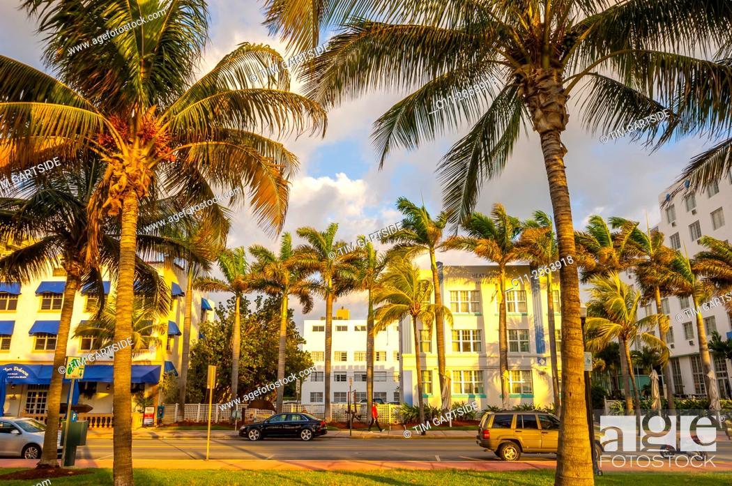 Imagen: South Beach, Ocean Drive, Miami, Florida, USA.