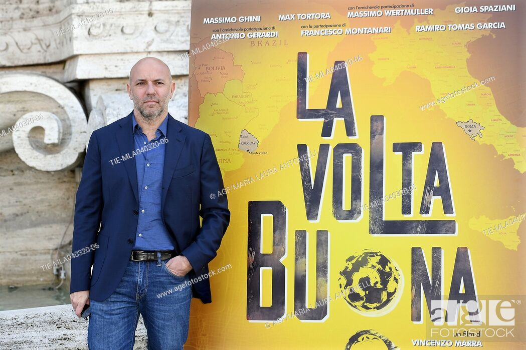 Stock Photo: Vincenzo Marra during 'La volta buona' film photocall, Rome, 04/03/2020.