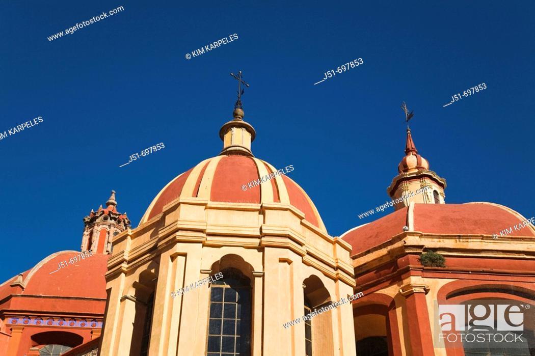 Stock Photo: Multiple domes of San Diego church, UNESCO World Heritage Site  Guanajuato, Mexico.