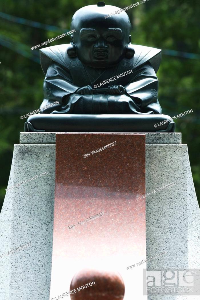 Stock Photo: Buddha statue, close-up.