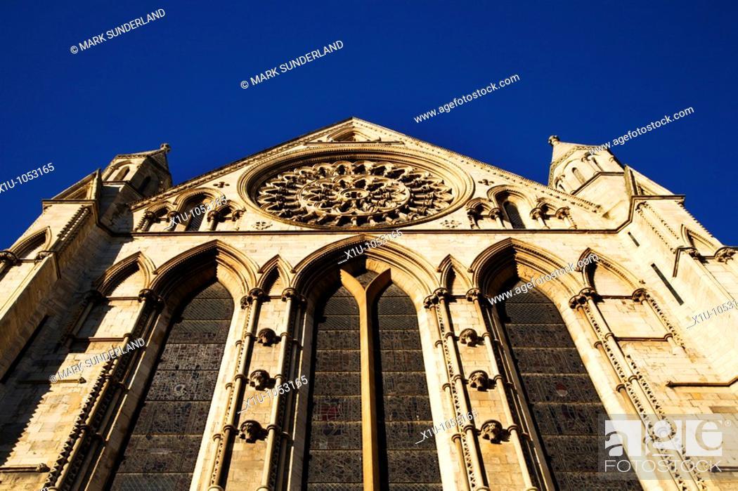 Stock Photo: York Minster York Yorkshire England.
