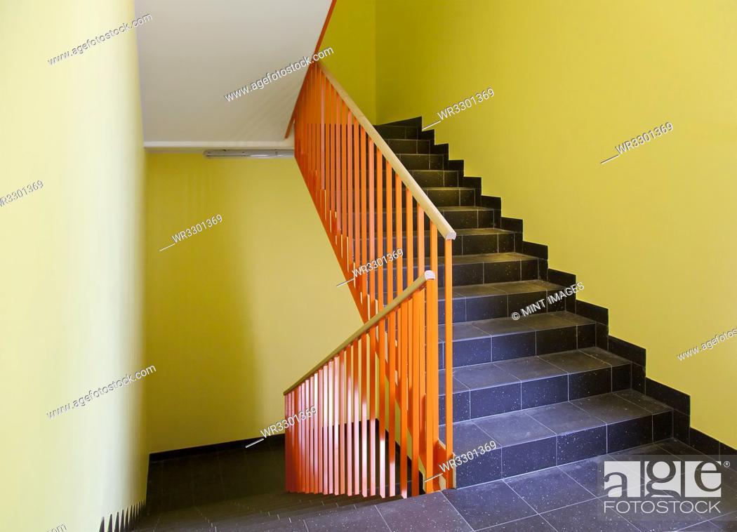 Stock Photo: Empty Hospital Stairwell.