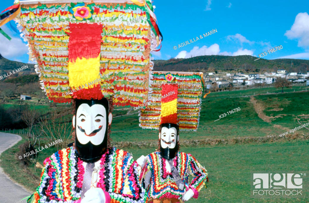 Stock Photo: Carnival. Vilariño de Conso. Orense province. Spain.