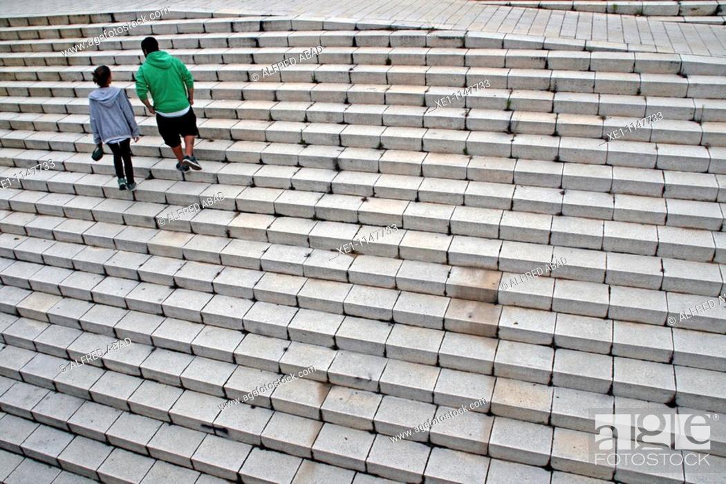 Stock Photo: Staircase, Badalona, Catalonia, Spain.