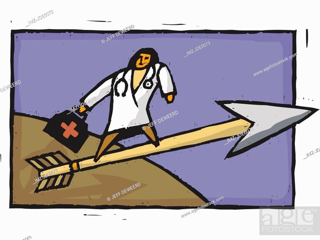 Stock Photo: Doctor on an arrow.