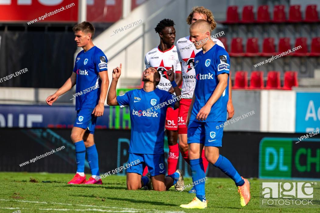 Imagen: Genk's players celebrate after winning the Jupiler Pro League match between SV Zulte Waregem and KRC Genk, in Waregem, Sunday 09 August 2020.