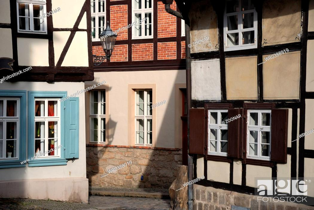 Stock Photo: old timber frame Houses.