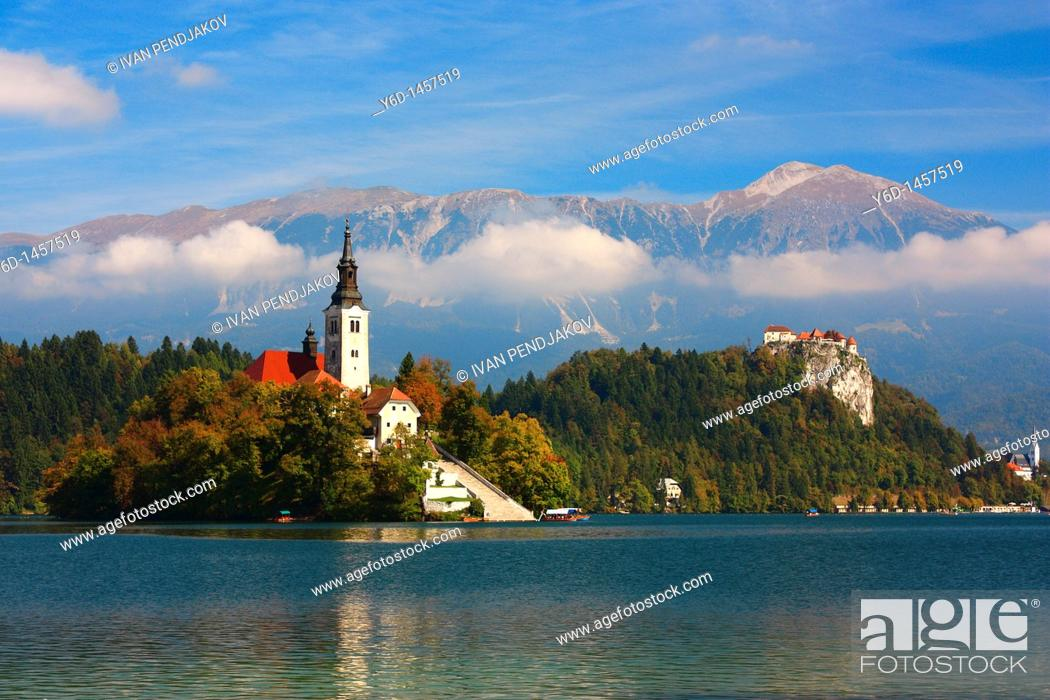 Stock Photo: Lake Bled, Slovenia.