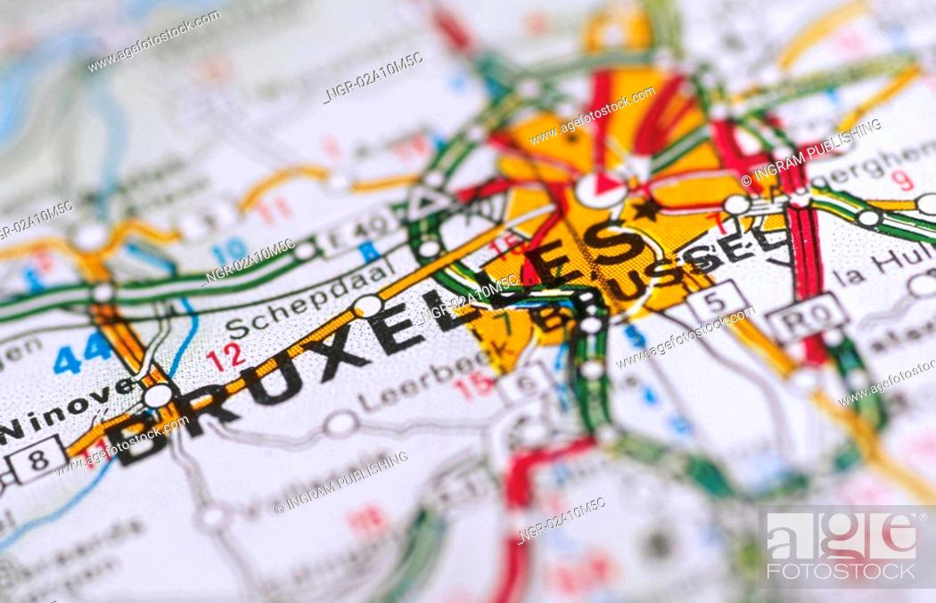 Stock Photo: Map of Brussels.