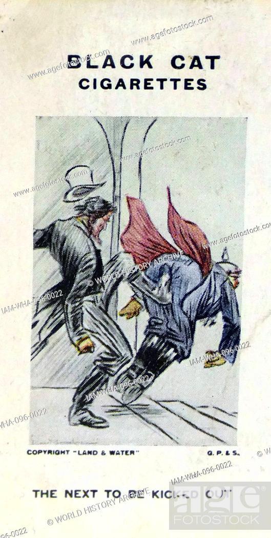 Black Cat Cigarettes World War One Propaganda Card Showing The