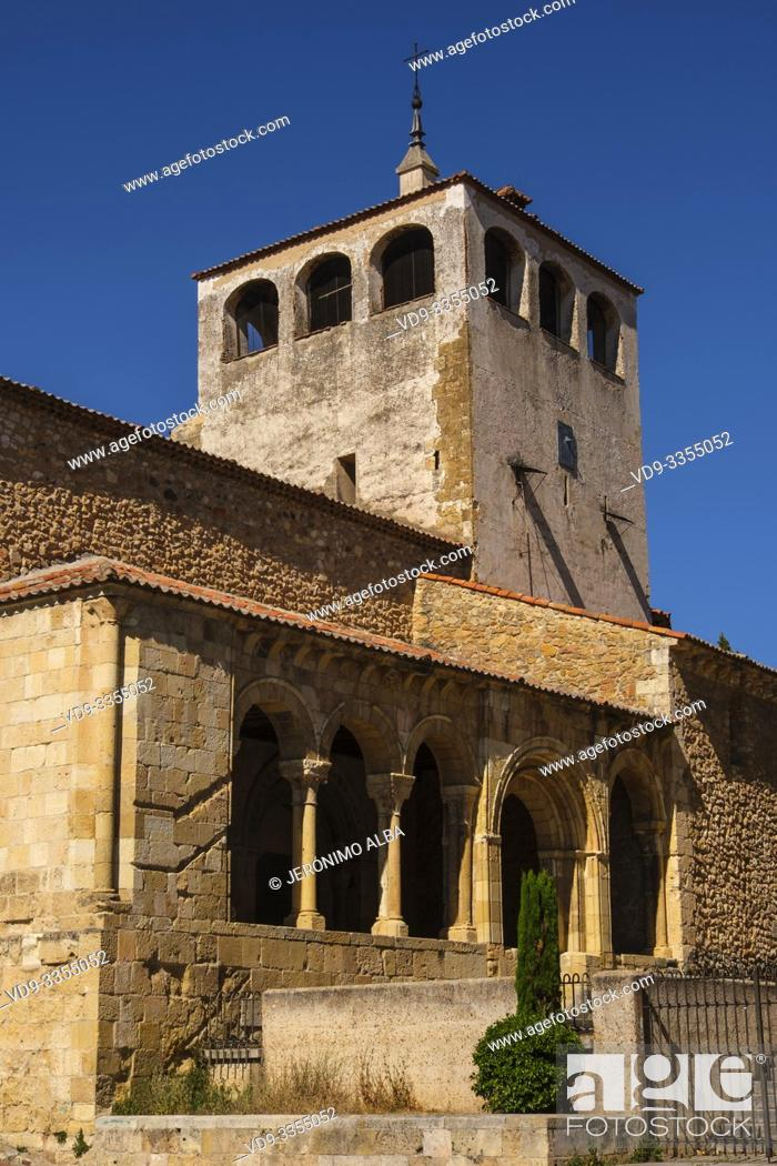 Stock Photo: Romanesque church of San Clemente, Segovia city. Castilla León, Spain Europe.