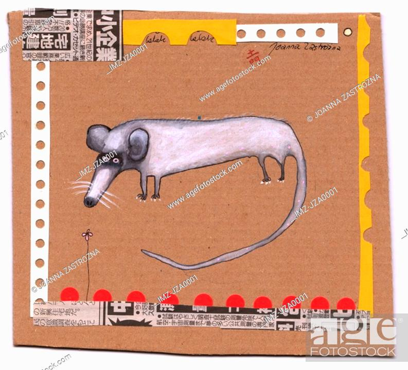 Stock Photo: A symbolic representation of the year of the rat.