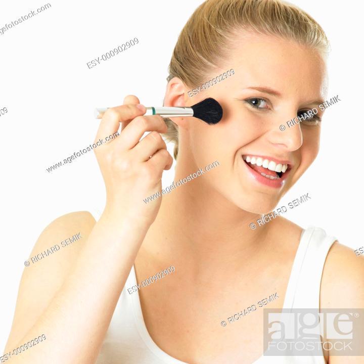 Stock Photo: woman''s make up.