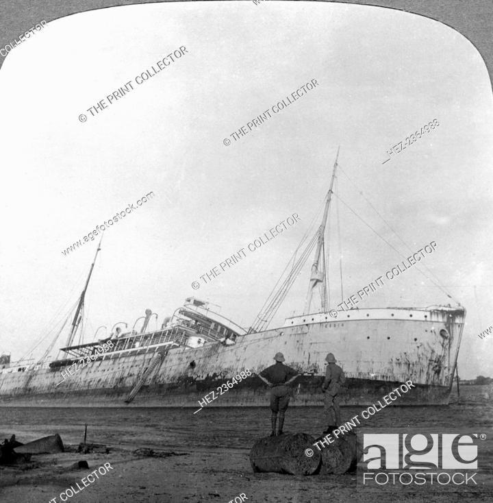 German cruiser sunk off Dar es Salaam, Tanzania, World War I, 1914