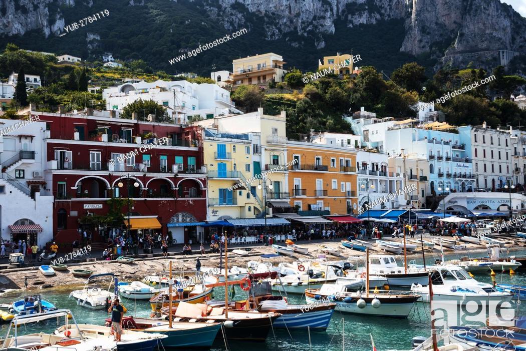 Stock Photo: Beautiful Capri, an island, Bay of Naples, Italy, Europe.