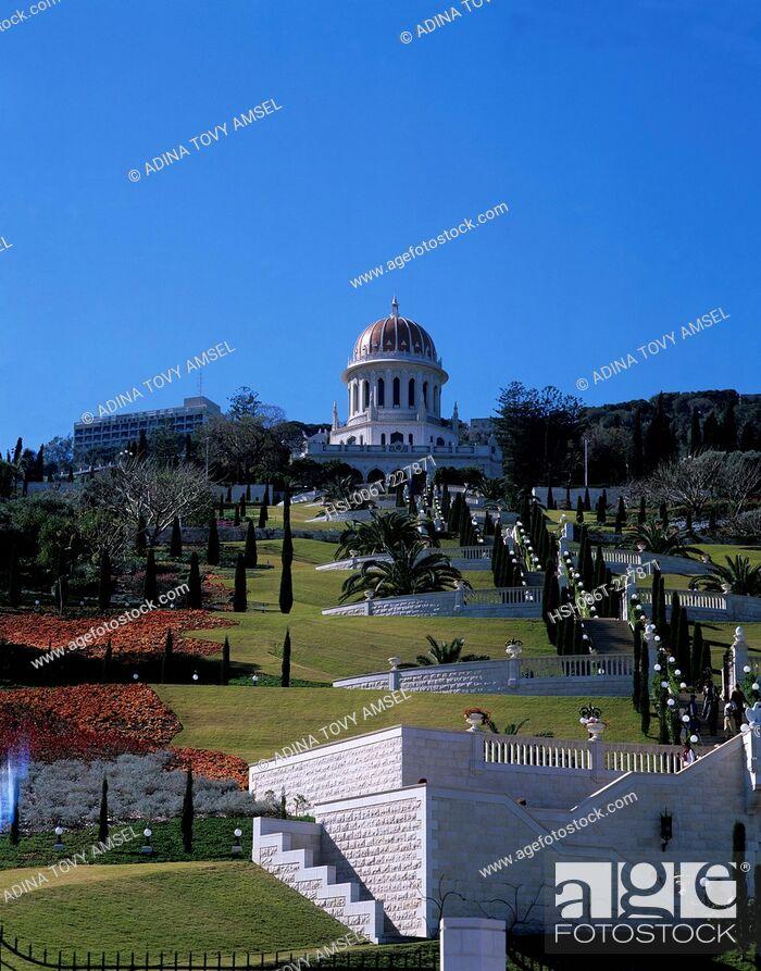 Stock Photo: Israel. Haifa. The Bahia Shrine.