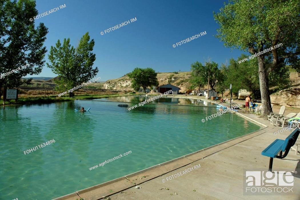 Thermopolis, WY, Wyoming, Hot Springs Campground, swimming pool