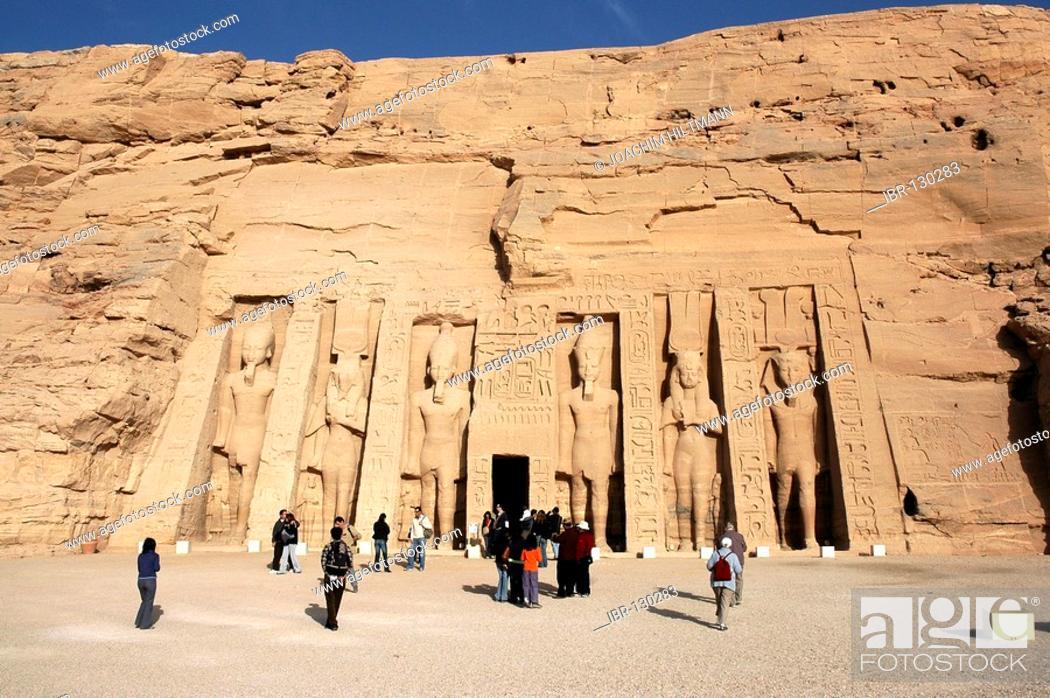 Stock Photo: Temple of Abu Simbel, Nubia, Egypt, Africa.