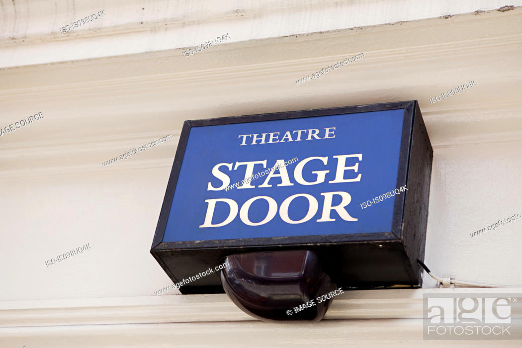 Stock Photo: Stage door of West End theatre, London.