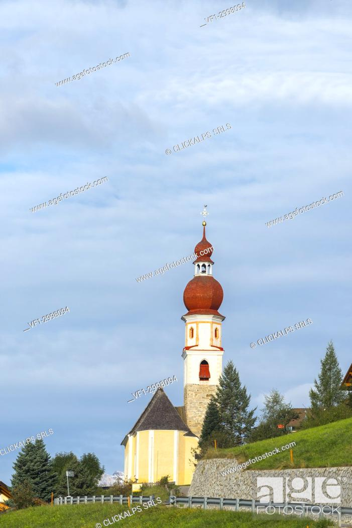 Stock Photo: Church of Telves of Sopra.
