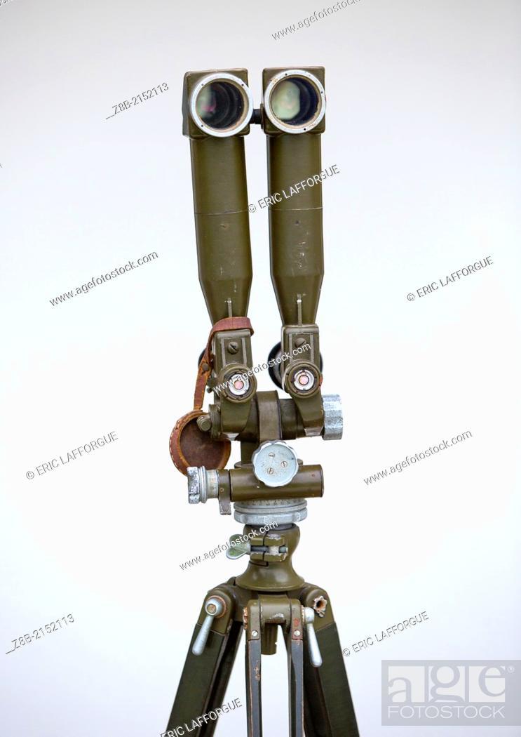 Stock Photo: Binoculars At The Wall Section In North Korea, Dmz, Panmunjom, North Korea.