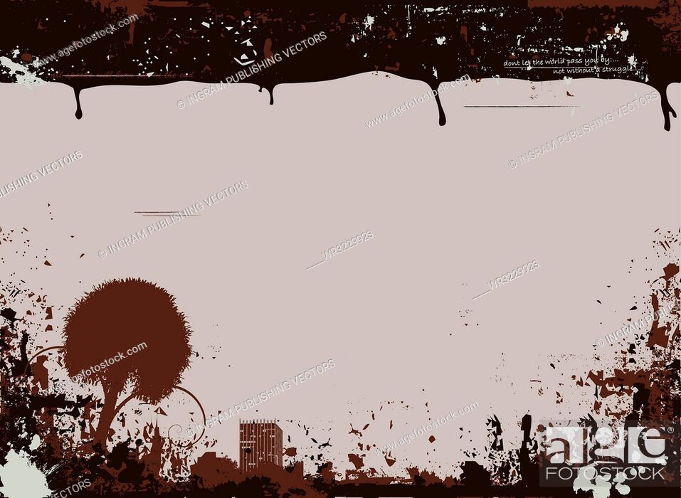 Vector: Brown and fawn background with a grunge effect and room to add your own text.