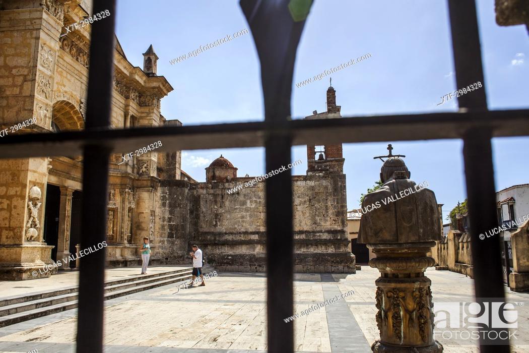 Stock Photo: Cathedral of Santa Maria la Menor 1514, UNESCO World Heritage Site, Santo Domingo, Dominican Republic.
