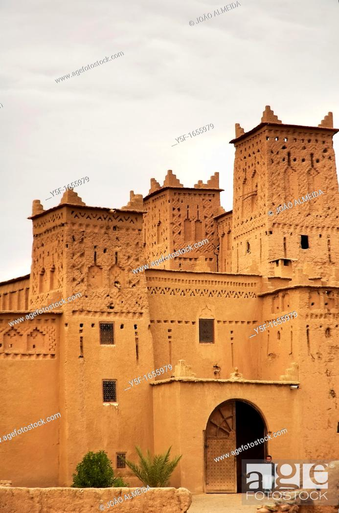 Stock Photo: Moroccan kasbah outside Ouarzazate.