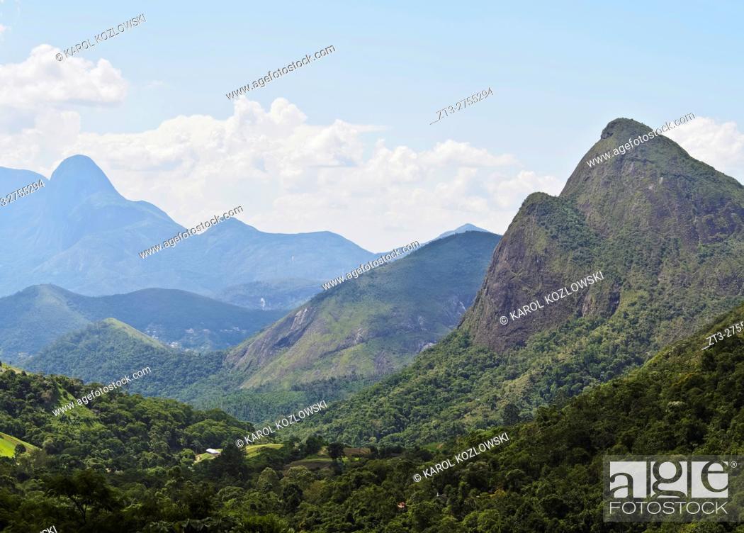 Imagen: Brazil, State of Rio de Janeiro, Petropolis, View of the Serra dos Orgaos.