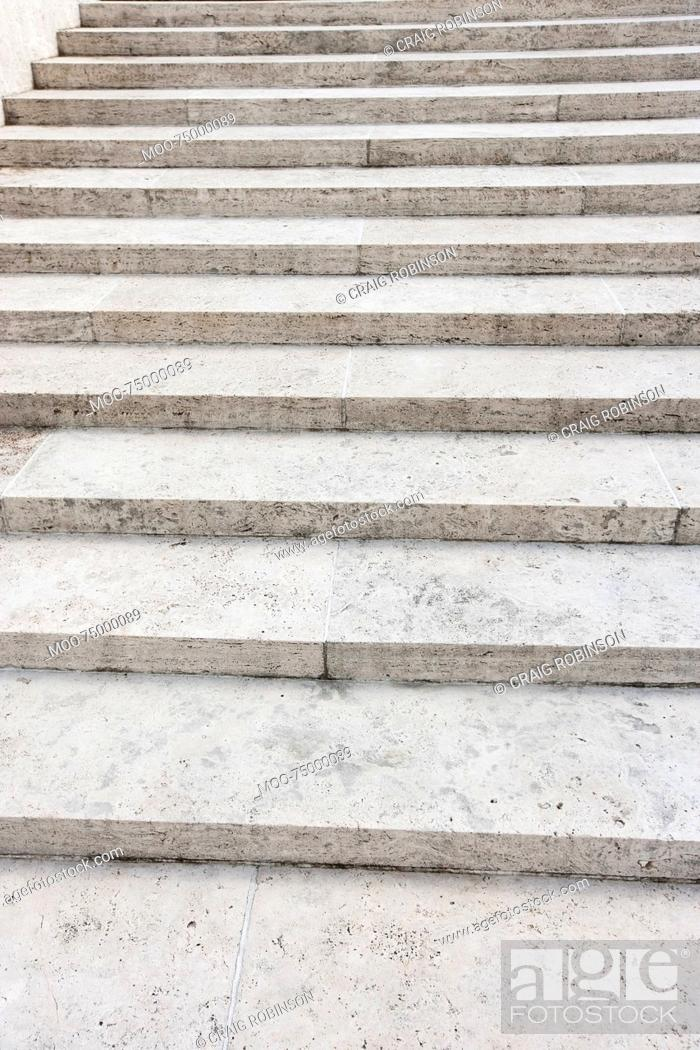 Stock Photo: Steps at Manila American Cemetery and Memorial, Manila, Philippines.
