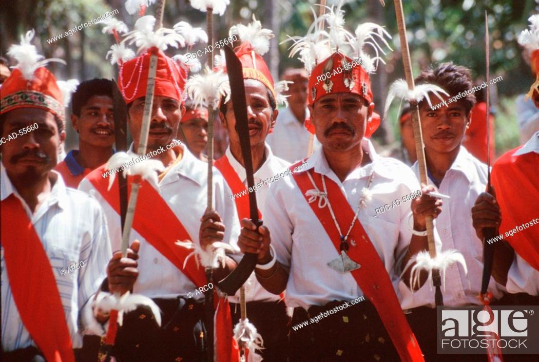 Men In Traditional Dresses Denantanah People Of Ngada Riung