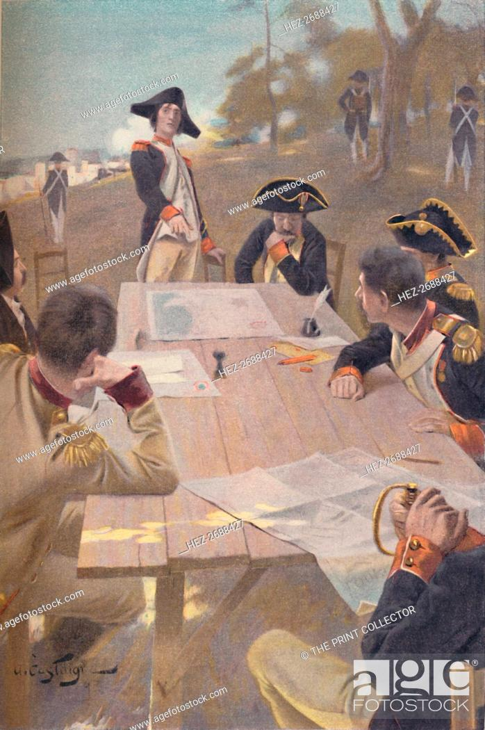 Stock Photo: 'Bonaparte Explaining His Plan for the Taking of Toulon, 1793', (1896). Artist: Unknown.