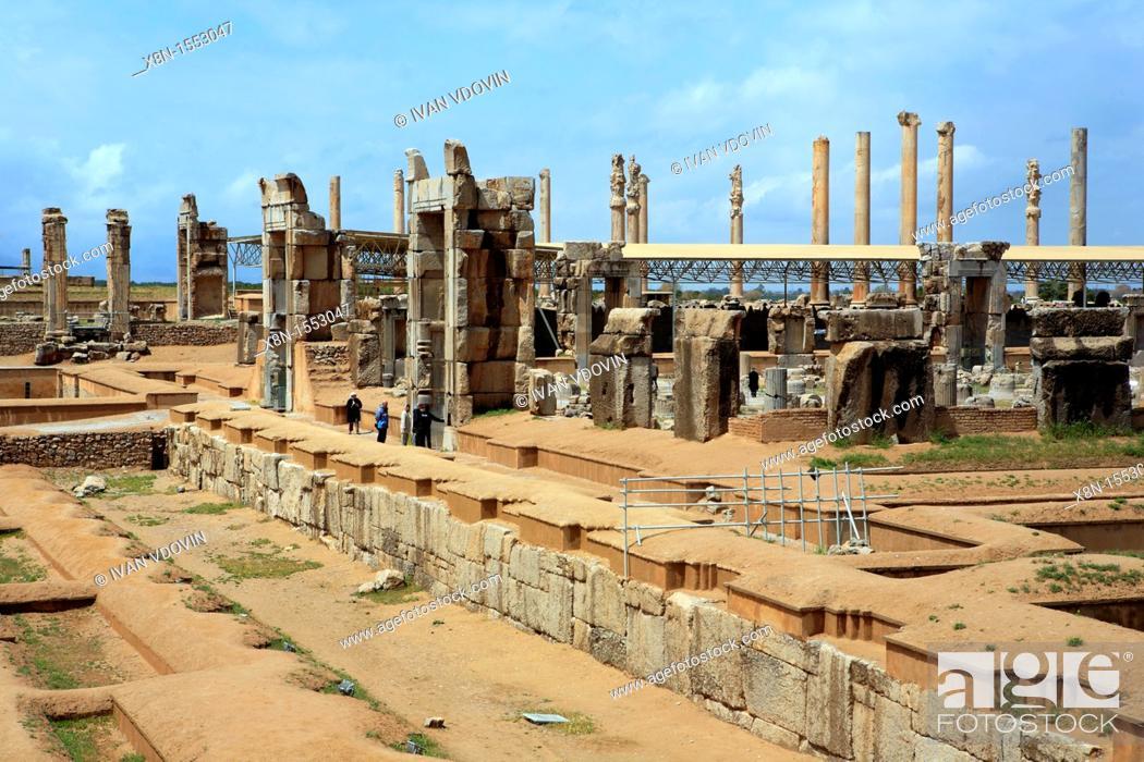 Stock Photo: Palace of Akhemenid kings 510-450 BC, UNESCO World Heritage Site, Persepolis, province Fars, Iran.