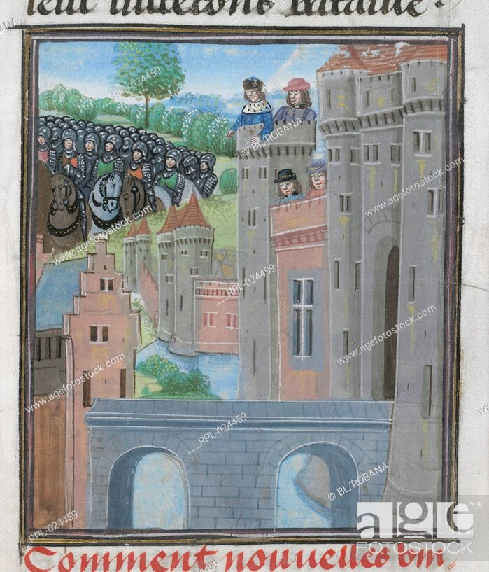 Imagen: Richard II in Flint Castle, Miniature only King Richard II deserted by his army in Flint Castle, with the army of Henry Bolingbroke, the future King Henry IV.