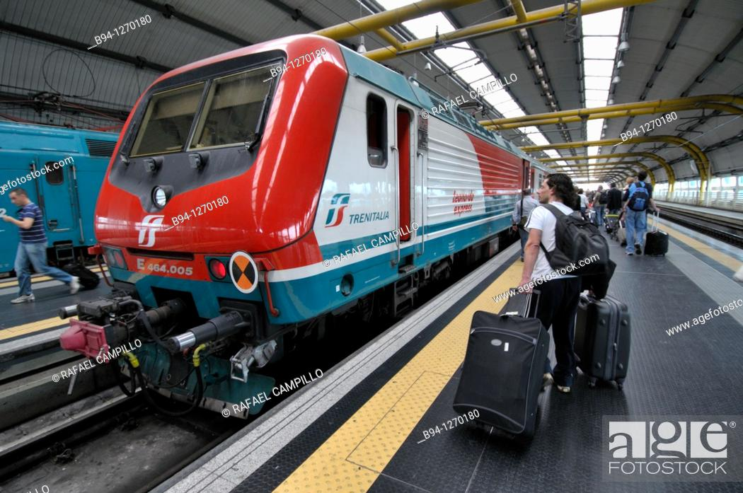 Stock Photo: Fiumicino Airport railway station. Italy.