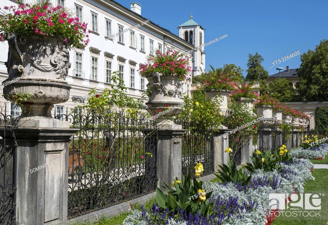 Stock Photo: Mirabell Gardens in Salzburg.