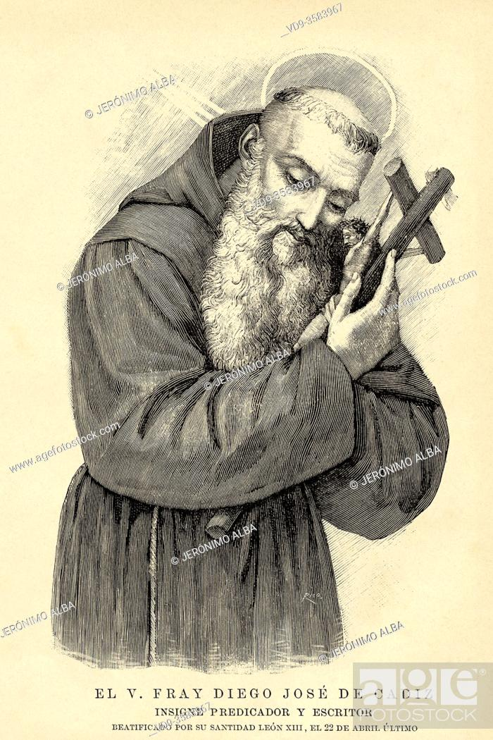 Stock Photo: Portrait of Fray Diego José de Cádiz. José Francisco López-Caamano y García Pérez, (Cádiz 1743 - Ronda 1801) Capuchin friar, ascetic and Spanish orator.